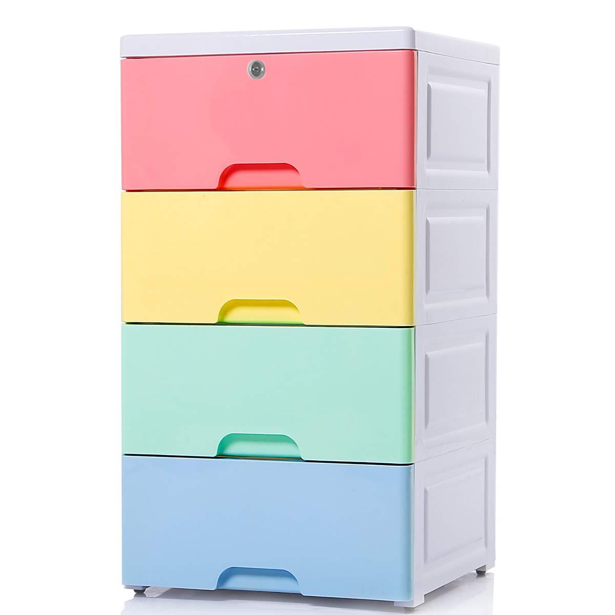 Nafenai 4 Drawer Stroage Dresser,Kids Storage Cabinet,Colorful
