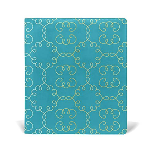 AURELIOR Arabesque Vignettes Pattern Stretchable PU Leather Book Cover 9 x 11 Inches Fits for School Hardcover Textbooks