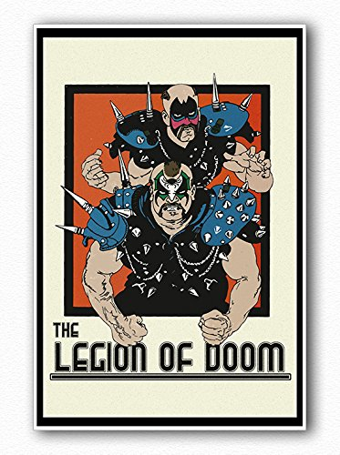 Poster Legion of Doom Awesome RETRO Wall Art - Wwe Wwf Mint