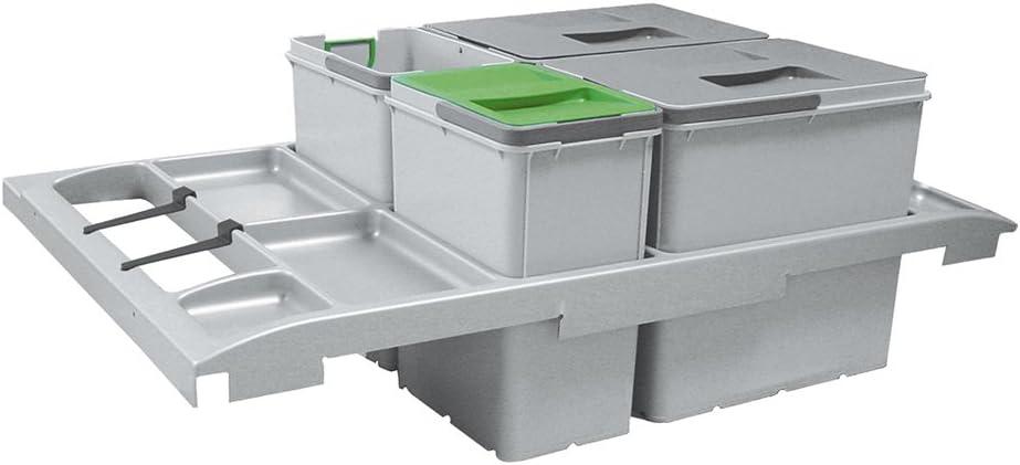 grau FRANKE Sorter Trolley Vario 90 Abfallsorter Abfalleimer M/ülleimer Abfallsammler 86 x 29 x 53,3 cm Plastik