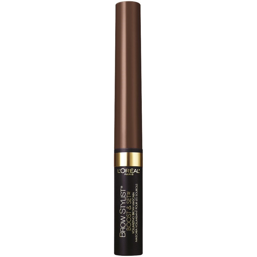 L'Oreal Paris Cosmetics Brow Stylist Boost & Set Brow Mascara, Dark Brunette, 0.1 Fluid Ounce