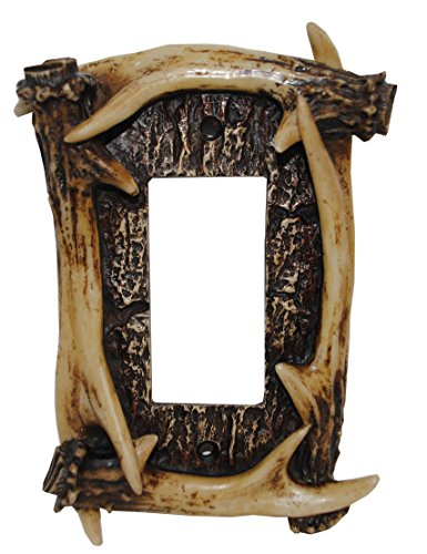 (HiEnd Accents Antler Lodge Single Rocker Plate)