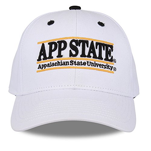 NCAA Appalachian State Mountaineers The Game Bar Design Adjustable Hat, White