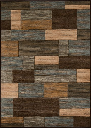- Momeni Rugs DREAMDR-04BRN5376 Dream Collection, Contemporary Area Rug, 5'3