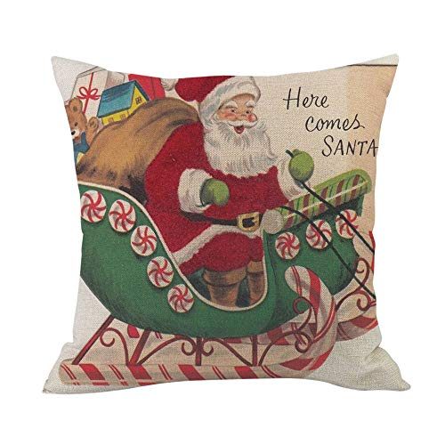 Littay Merry The Best Gift Cushion Cover Square Pillow Case Home Decor 17.72