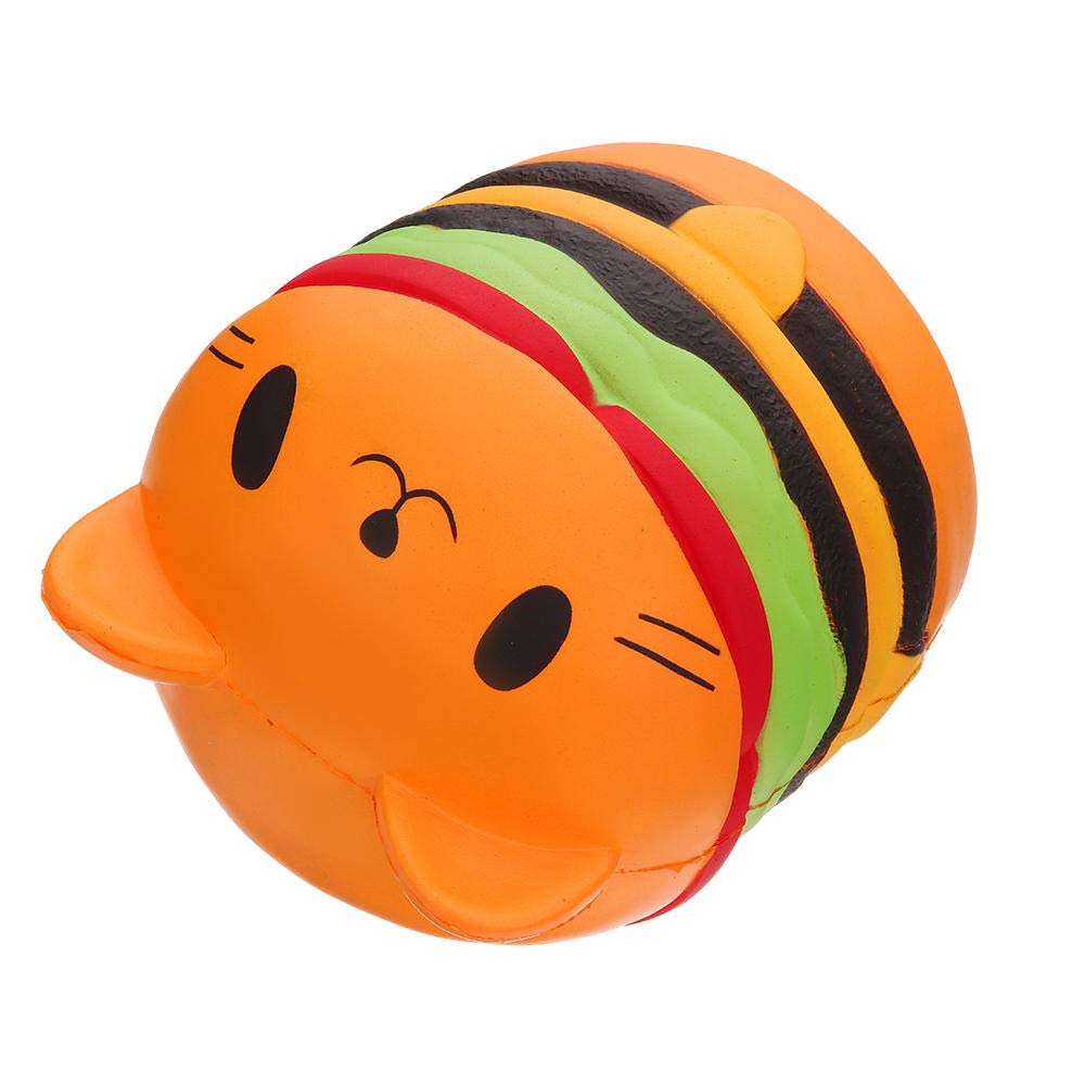 Giant Squishy Toy Soft Jumbo Slow Rising Squishies Collection Gift Decor Stress Reliever (Cat Burger) by Ganjiang (Image #5)