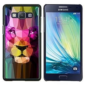 """Be-Star Único Patrón Plástico Duro Fundas Cover Cubre Hard Case Cover Para Samsung Galaxy A5 / SM-A500 ( La cara del león Estructura Arte Retrato del gato grande colorido"""" )"""