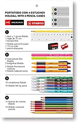 Amazon.com: Miquel Rius Miquelrius – Estuche 4 Pencil Case ...