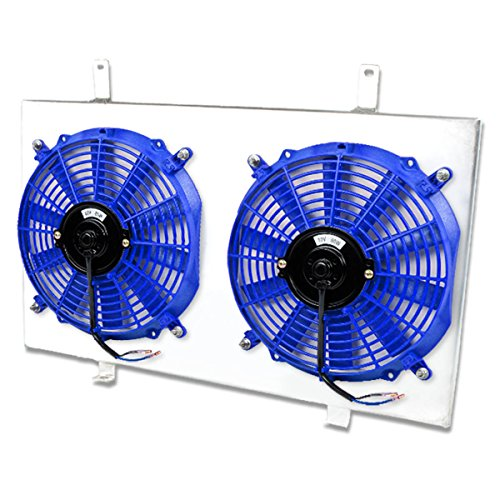 For Nissan Maxima/Infiniti I30 MT Aluminum Bolt-on Cooling Radiator Fan Shroud (Blue) - 4th Gen A32 VQ30