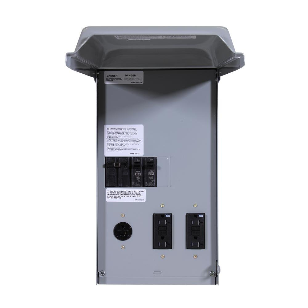 Ge Site Power 100 Amp 4 Space Circuit Temporary Gfci Outlet Industrial Thql1120afp2 Arc Fault Breaker At Faucet Flanges