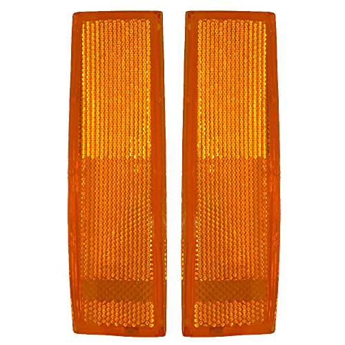 Signal Side Marker Lights Driver and Passenger Replacements for Chevrolet Blazer S10 GMC S15 Jimmy Oldsmobile SUV Truck 929917 929918
