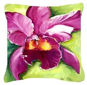 Caroline's Treasures JMK1270PW1414 Orchid Canvas Fabric Decorative Pillow, Large, Multicolor