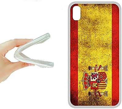 SUPER STICKER iPhone XS Funda Carcasa Gel Flexible, con Dibujo Original, Ref: Bandera Espana: Amazon.es: Electrónica