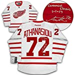 c7e9af746 Andreas Athanasiou Red Wings Signed   Dated 2017 Centennial Classic Jersey.  Autograph Authentic
