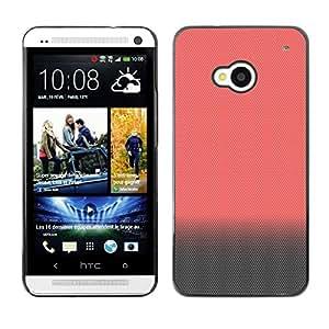 Peach Gris Colores Monótono limpias - Metal de aluminio y de plástico duro Caja del teléfono - Negro - HTC One M7