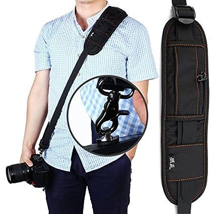 eDealMax SHETU autorizado cámara Digital Universal SLR Correa del cinturón Negro Para DSLR