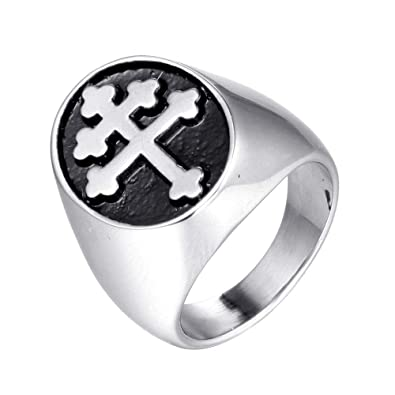Amazon.com: JAJAFOOK - Anillo de acero inoxidable para ...