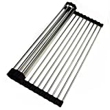 12'' W x 18'' L x 0.25'' H Stainless Steel Roll-up Kitchen Mat Accessory