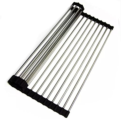 12'' W x 18'' L x 0.25'' H Stainless Steel Roll-up Kitchen Mat Accessory by Highpoint Collection