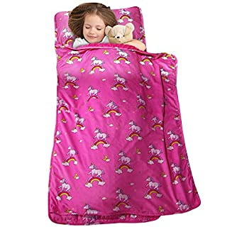 MAXTID Toddler Nap Mat with Removable Pillow for Daycare and Preschool