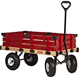 Millside Industries Classic Wood Wagon with Red Removable Wooden Racks
