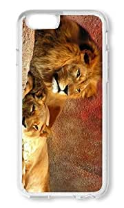 iPhone 6 Plus Case Color Works Lion Couple Transparent PC Hard Case For Apple iPhone 6 Plus 5.5 Inch Phone Case