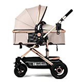 YBL High landscape Newborn Baby stroller Can sit down and lie down Fold Shock avoidance Four rounds Baby carriage Two-way implementation Four seasons available Suitable for 0-3 year old children