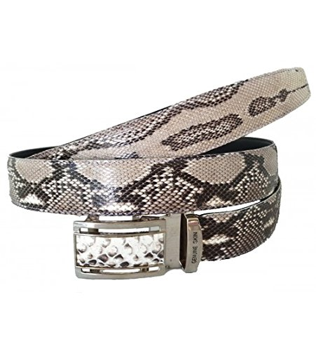Authentic Snake Skin Men's Genuine Python Leather Belt 34 Natural (Leather Snake Genuine Belt)