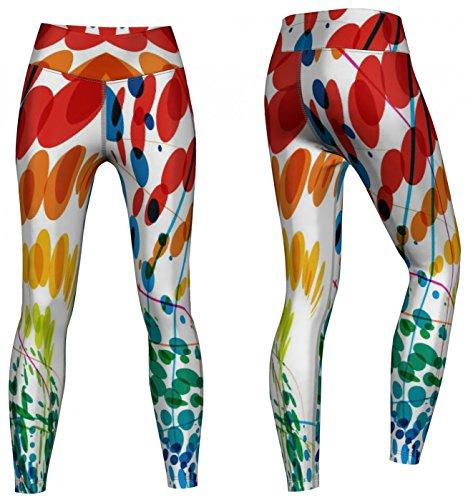 Petals Leggings sehr dehnbar für Sport, Gymnastik, Training & Fashion Mehrfarbig