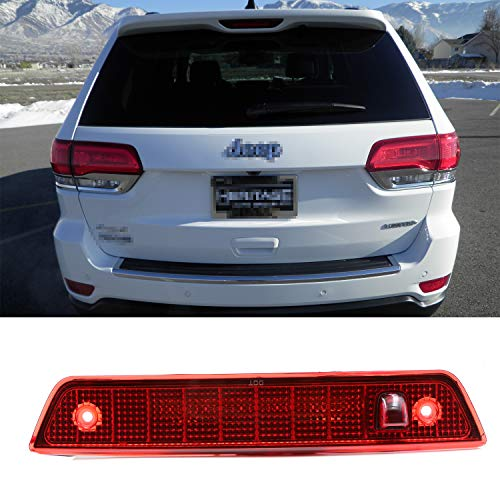3rd Third Brake Light Center High Mount Stop Light Lamps Cargo Lights Replacement for 2005-2010 Jeep Grand Cherokee (Red) - Jeep Grand Cherokee Lamp