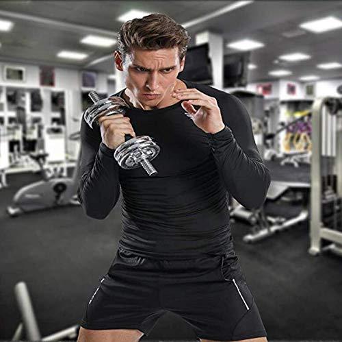 ZOORE Men\'s Cool Dry Skin Fit Compression Shirt Black