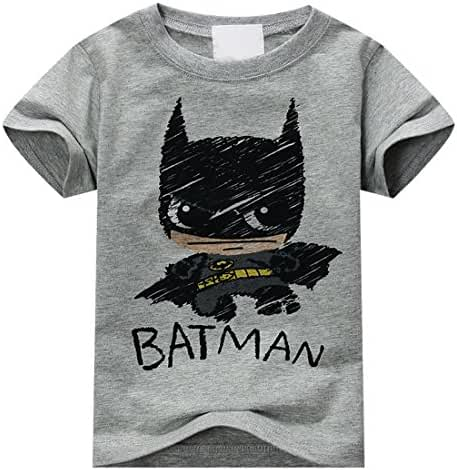 Batman Shirt for Boys Kids Soft Cotton Superhero Graphic T-shirt by Sun Baby