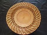 Pine Needle Wood Plate BASKET