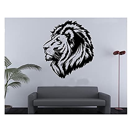 PVC Wall Stickers Lion King Wall Size Animal Decal Vinyl Decor Wallpaper  Sticker