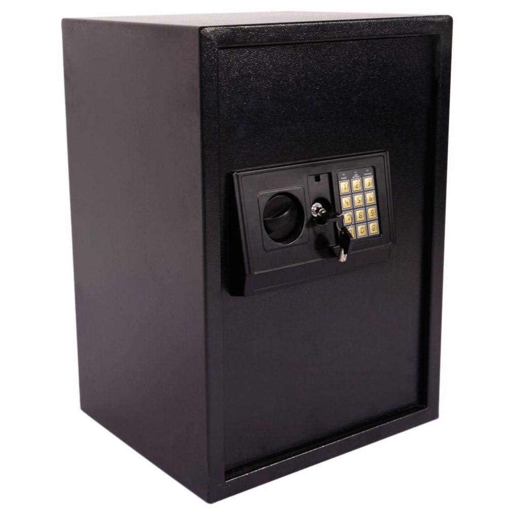 Feelfly E50EA Electronic Security Safe Electronic Steel Safe with Keypad Safe Box Home Use Black