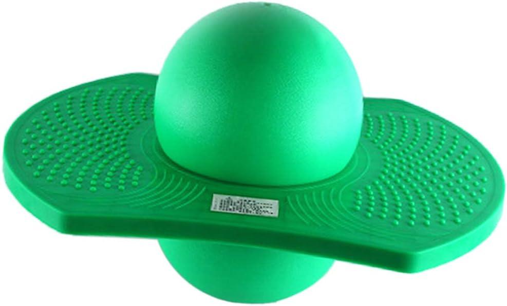 T TOOYFUL Saltatore Pogo Jumping Exercise Bounce Space Fitness Ball per Bambini Adulti 6 Colori per Scegliere Verde