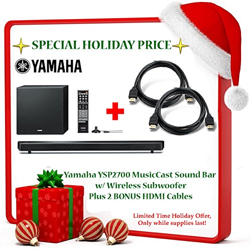 Black Friday Deal Brand New! Yamaha YSP-2700 Music Cast Bar with Wireless Subwoofer 7.1 Channel + 2 Bonus HDMI Cables!