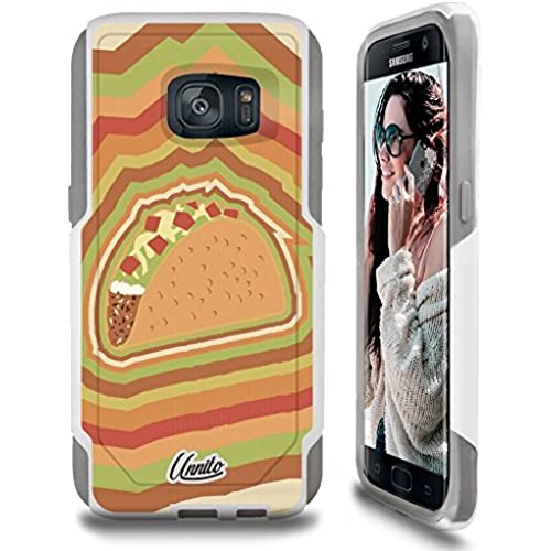 Galaxy S7 Case Unnito [Custom] Dual Layer - Shock Protection [Hybrid Cover] - ( White - Taco Tuesday ) Sales