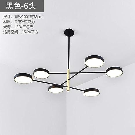 Ambiente de lámpara hogar sala de estar iluminando seis ...