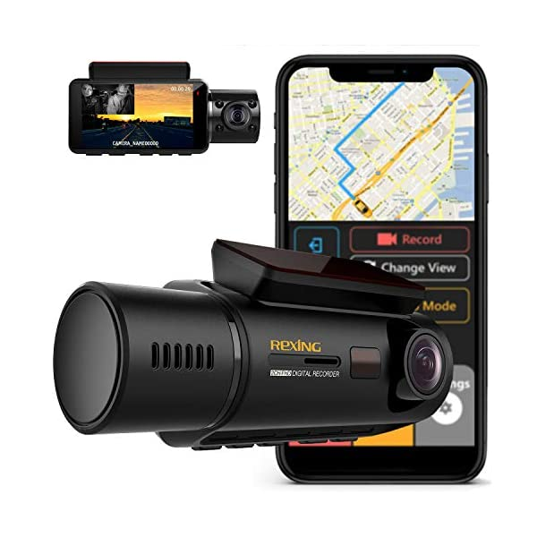 Rexing V3 Dual Camera Front and Inside Cabin Infrared Night Vision Full HD 1080p...