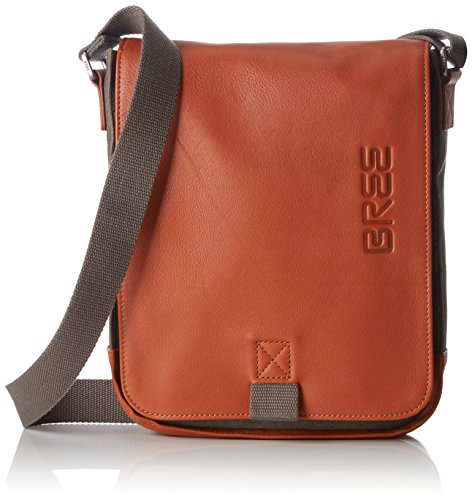 BREE Punch Casual 52, Grey/cognac, Shoul. Bag, Unisex Adults' Shoulder Grau (Grey), 6.5x26x21 cm (B x H T) (Bree Punch)