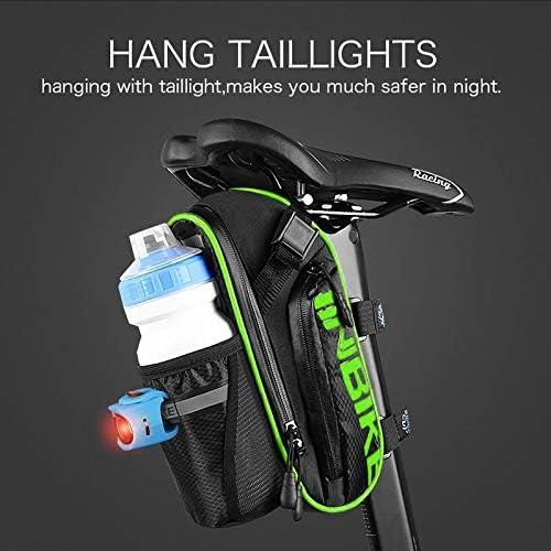 Accesorios de Bicicleta de Monta/ña Bolsa de Poli/éster Bolsillo para Botella de Bicicleta de 1.2L y Material Especial Reflectante para Bicicletas Bolsa Arkmiido Bolsas para Sillines de Bicicletas