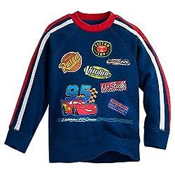 Disney Kids Lightning McQueen Raglan Sleeve Sweatshirt 3 Blue