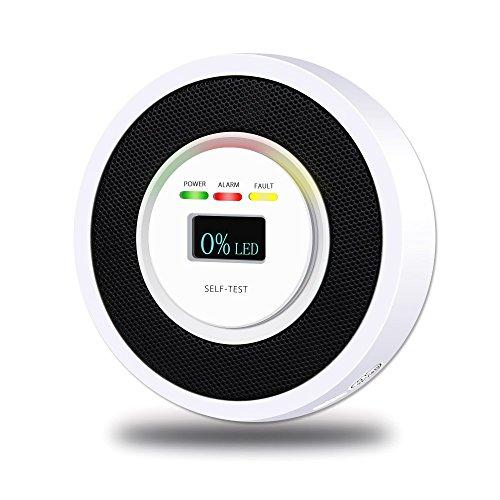 Gas Detector,Detector de Alarma Fugas de Gas con Advertencia de Sonido y Pantalla LED Herramientas del Hogar Probador y...