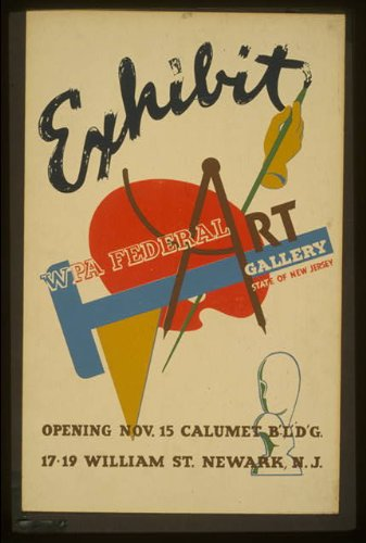 HistoricalFindings Photo: Exhibit,WPA Federal Art Gallery,State Jersey,William ()