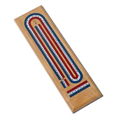 popular WE Juegos Classic Cribbage Set - Solid Wood Wood Wood TriColor (rojo, blanco, azul) Continuous 3 Track Board with Metal Pegs by WE Juegos  Tienda 2018