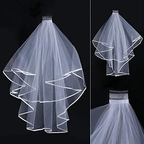 Wedding Veil White Ivory Bridal Two Layers First Holy Communion Comb Hen Party WHITE 300cm