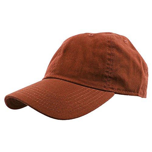 (Gelante Baseball Caps Dad Hats 100% Cotton Polo Style Plain Blank Adjustable Size. 1823-Rust)