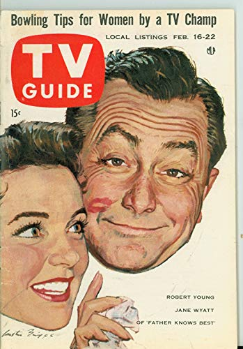 1957 TV Guide Feb 16 Robert Young and Jane Wyatt of Father Knows Best - Wisconsin Edition Excellent to Mint (6 out of 10) Lightly Used by Mickeys Pubs