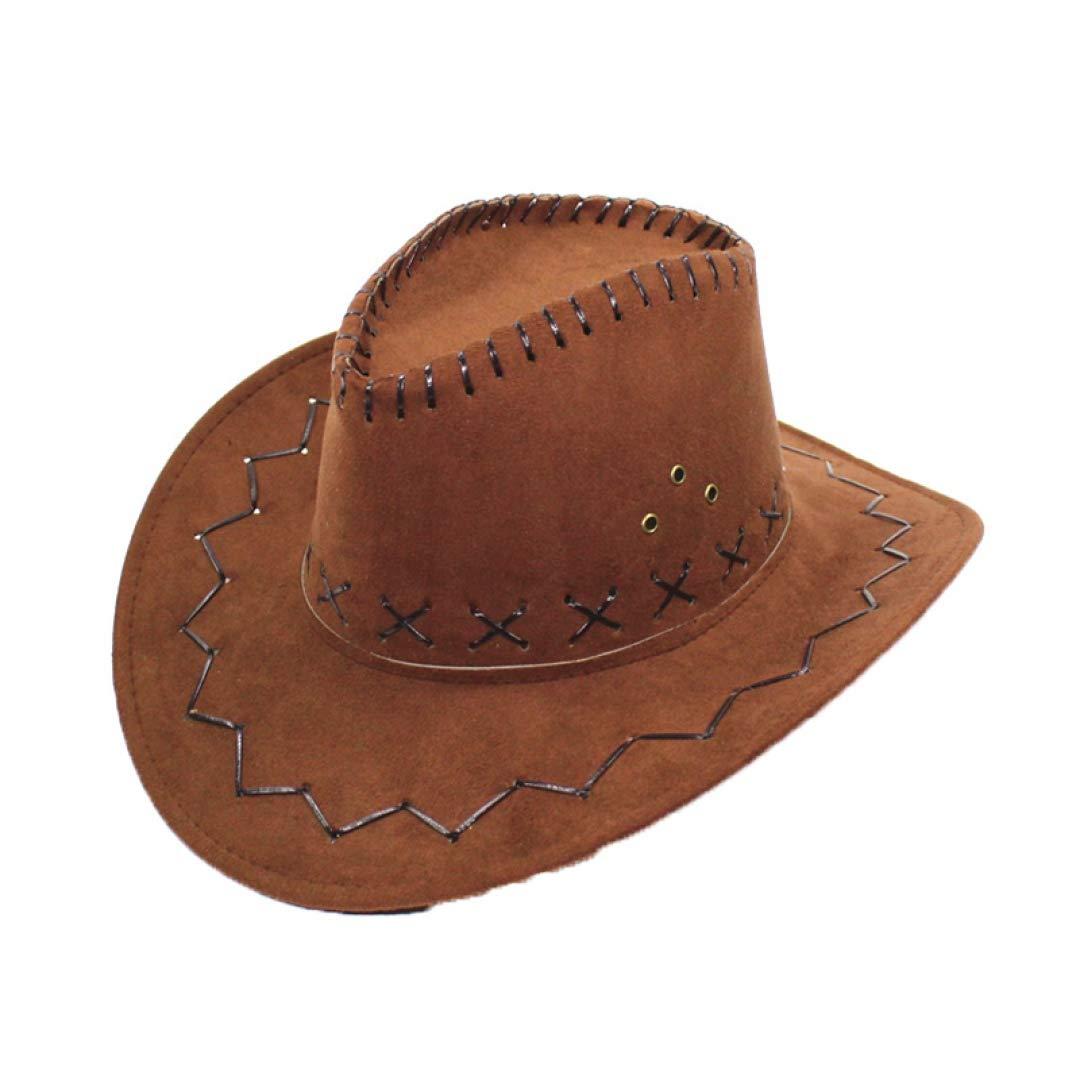 ac29029b3 SANOMY Unisex Wide Brim Cowboy Hats Western Style Party Travel Cap ...